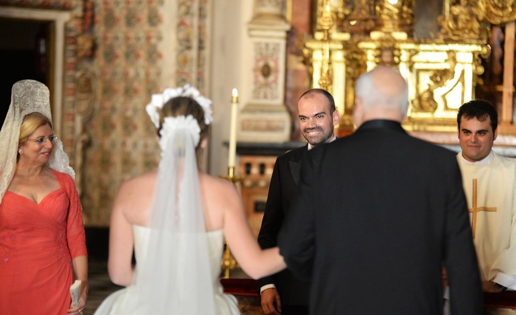 wedding ceremony la cartuja granada