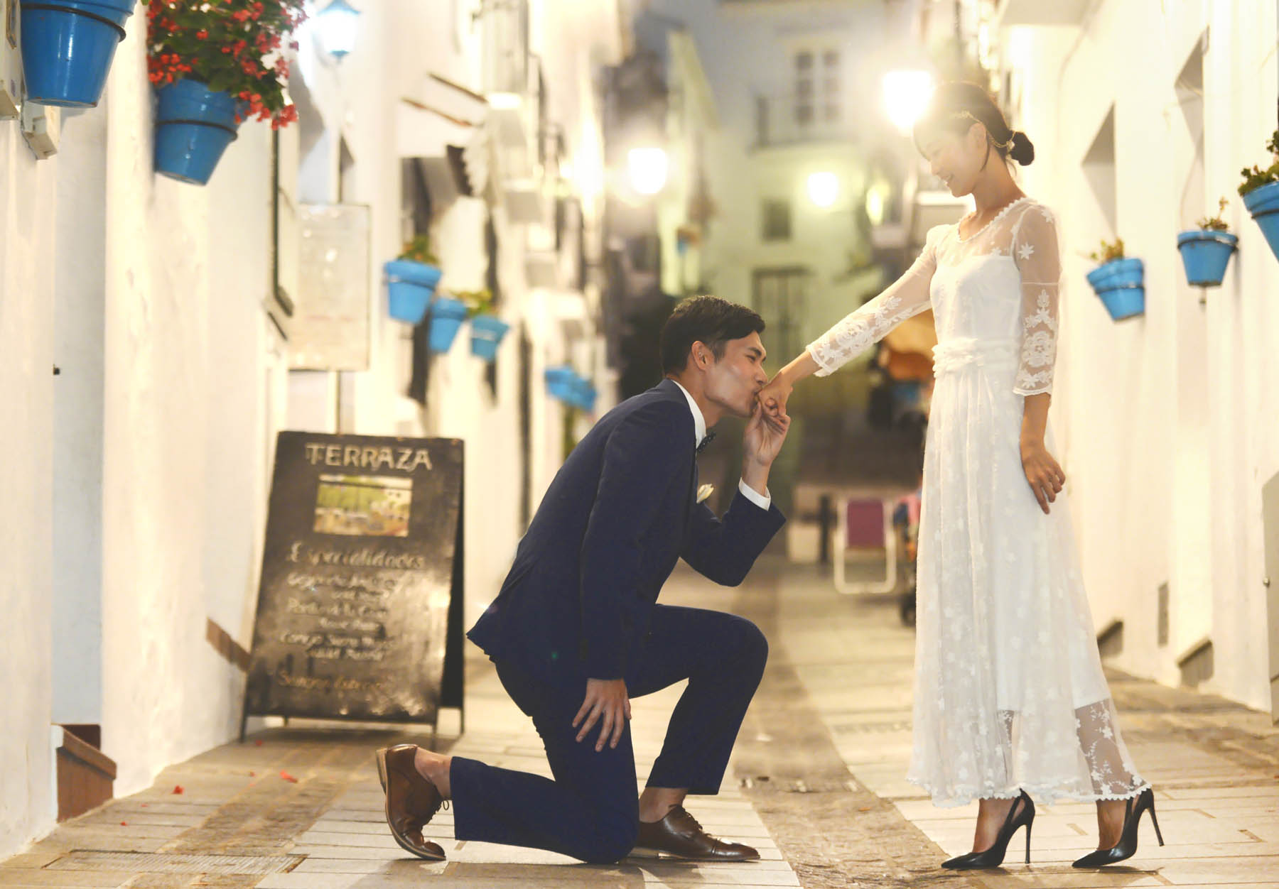 mijas wedding photo shoot