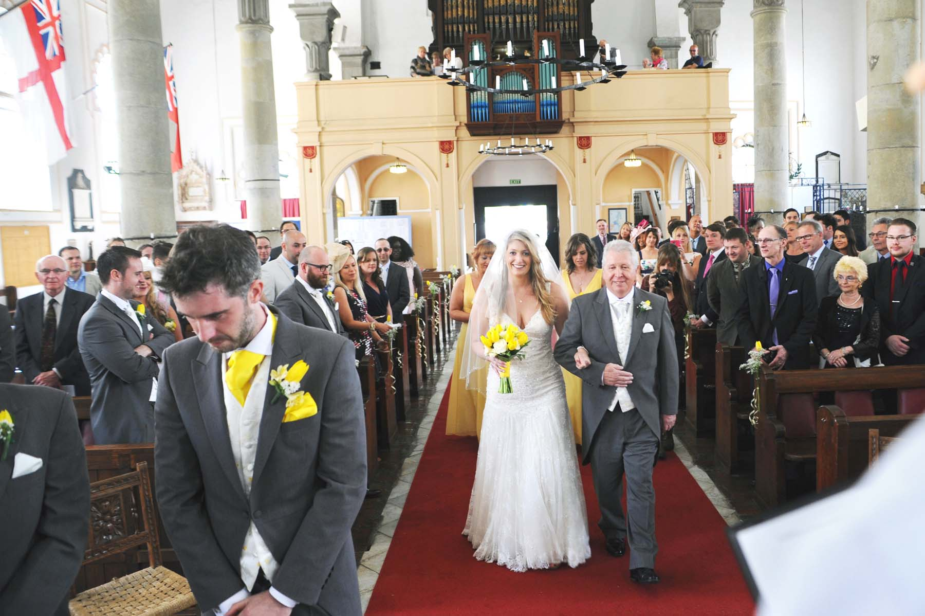 cathedral of holy trinity gibraltar weddings bride